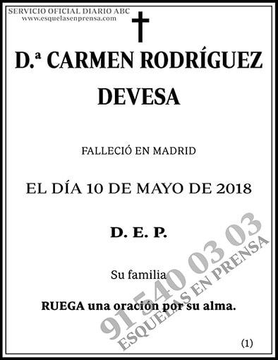 Carmen Rodríguez Devesa